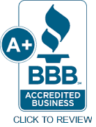 Better Business Bureau A+ Rated!