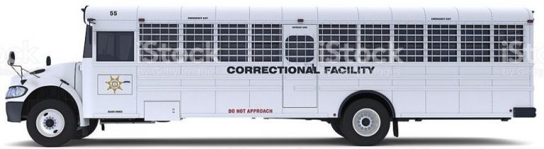 Sheriff's Prison Transport Correction Department Bus